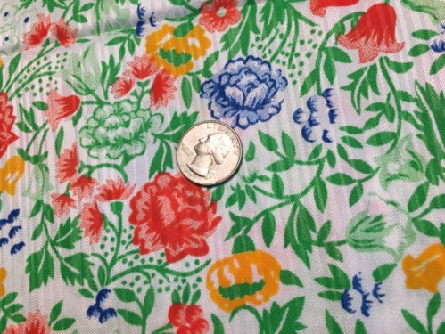 Vintage 1970s Fabric 3 yards Primary Colors Satin