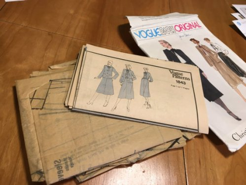 Christian Dior Vogue Paris Original 1980s Suit Pattern 1843