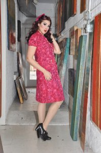 Feed Sack Era Dress by Tracy McElfresh