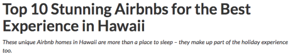 top 10 airbnb rentals hawaii