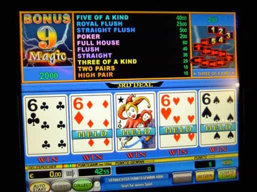 オンラインカジノで人気のビデオポーカー
