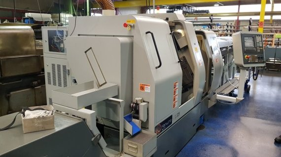 Makinate | 2) Used HANWHA STL32H Swiss type lathe M1701978650 1