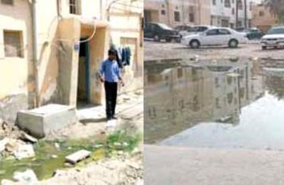 Open sewage in Bahrain