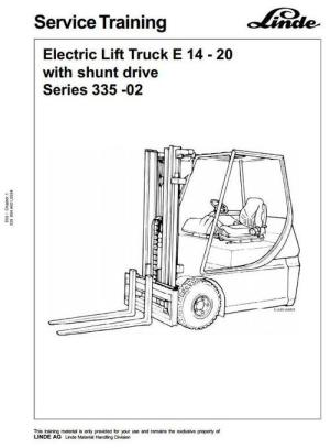Linde Electric Forklift Truck 33502 Series: E14, E16