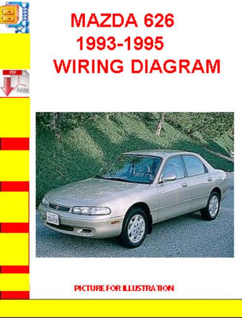 mazda 626 19931995 wiring diagram  tradebit