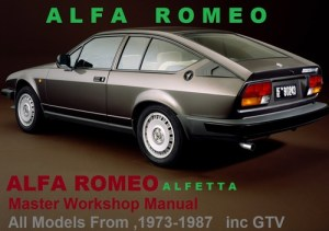 ALFA ROMEO ALFETTA GTV 19731987 Workshop Service Manual