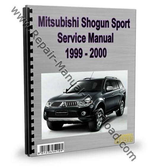 mitsubishi montero pajero sport 1999 2000 repair manual