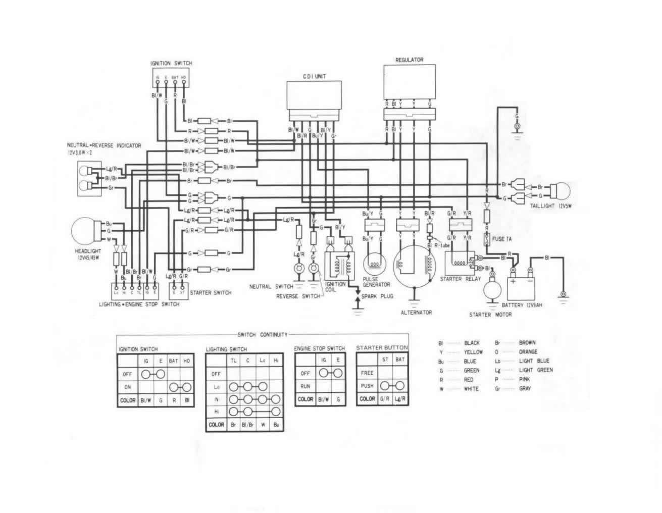 Honda 250r Wiring Diagram