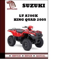 Suzuki LT A700X King Quad 2005 Workshop Service Repair Manual Pdf D