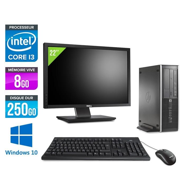 pack pc bureau reconditionne hp 6200 pro sff i3 8go 250go hdd windows 10 ecran 19 trade discount