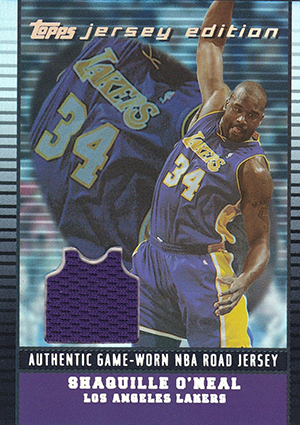 2002-03 Topps Jersey Edition Basketball Shaquille ONeal Road