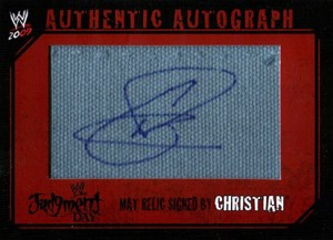 2009 Topps WWE Autographed Mat Relic