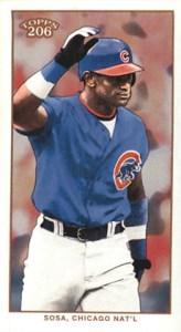 2002 Topps 206 Baseball Variations 340 Sammy Sosa Mini