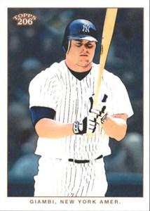 2002 Topps 206 Baseball Variations 356 Jason Giambi