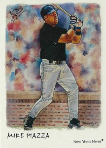 2002 Topps Gallery Baseball Variations 25 Mike Piazza