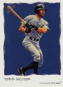 2002 Topps Gallery Baseball Variations 27 Todd Helton