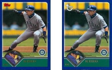 2003 Topps Baseball Variation Ichiro