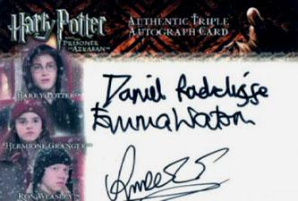 2004 Artbox Harry Potter and the Prisoner of Azkaban Update Autographs Daniel Radcliffe, Emma Watson and Rupert Grint