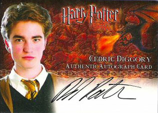 2005 Artbox Harry Potter and the Goblet of Fire Autographs Robert Pattinson as Cedric Diggory
