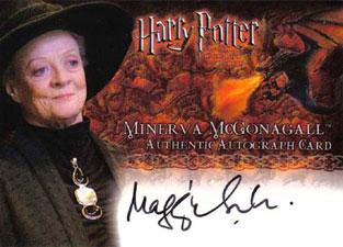2006 Artbox Harry Potter Memorable Moments Autographs Maggie Smith as Minerva McGonagall