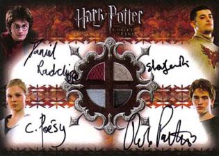 2006 Artbox Harry Potter and the Goblet of Fire Update Auto Costume Daniel Radcliffe, Robert Pattinson Janevski Poesy