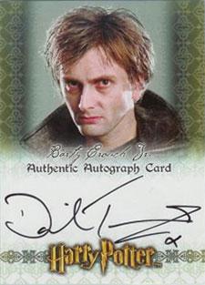 2007 Artbox Harry Potter SDCC Autographs David Tennant as Barty Crouch Jr.