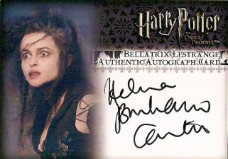 2007 Artbox Harry Potter and the Order of the Phoenix Update Autographs Helena Bonham Carter as Bellatrix Lestrange