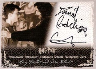 2009 Artbox Harry Potter Memorable Moments II Autographs Daniel Radcliffe as Harry Potter and Gary Oldman as Sirius Black