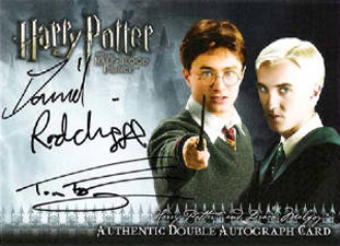 2009 Artbox Harry Potter and the Half-Blood Prince Autographs Daniel Radcliffe as Harry Potter and Tom Felton as Draco Malfoy
