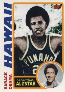 2009 Topps President Obama Basketball