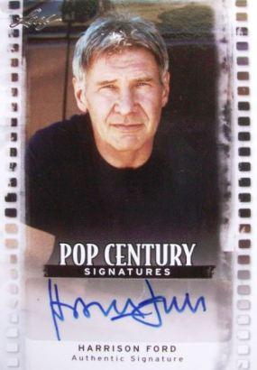 2011 Leaf Pop Century Harrison Ford Autograph