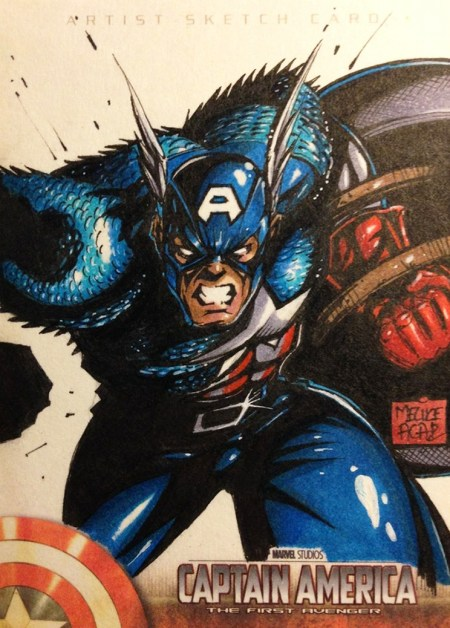 2011 Upper Deck Captain America The First Avenger sketch card by Melike Acar