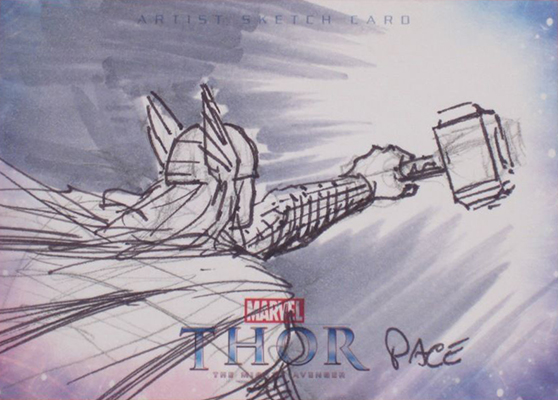 2011 Upper Deck Thor Sketch Card 2