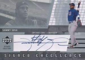 2002 Upper Deck Ultimate Collection Signed Excellence Sammy Sosa