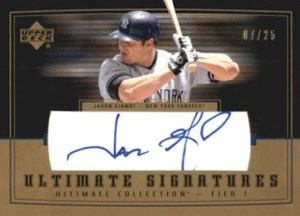 2002 Upper Deck Ultimate Collection Ultimate Signatures Jason Giambi