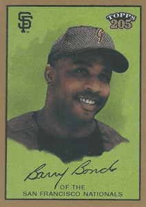 2003 Topps 205 1 Barry Bonds Cap
