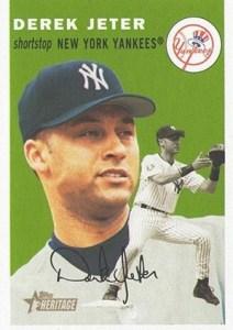 2003 Topps Heritage Baseball Derek Jeter