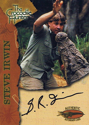 2002 Dart FlipCards Crocodile Hunter Autographs Steve Irwin