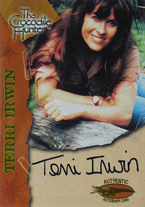 2002 Dart FlipCards Crocodile Hunter Autographs Terri Irwin