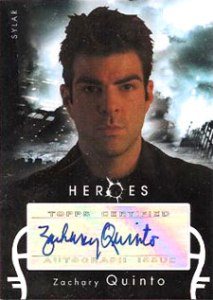 2008 Topps Heroes Autographs Zachary Quinto as Sylar
