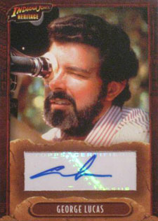 2008 Topps Indiana Jones Heritage Autographs George Lucas - Executive Producer