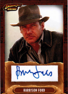 2008 Topps Indiana Jones Heritage Autographs Harrison Ford as Indiana Jones