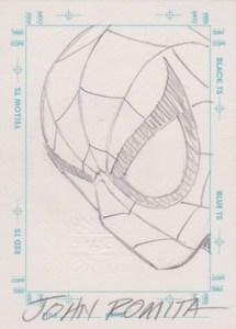 1998 SkyBox Marvel The Silver Age Sketchagraph John Romita