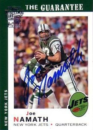 2004 Topps Fan Favorites Joe Namath Autograph