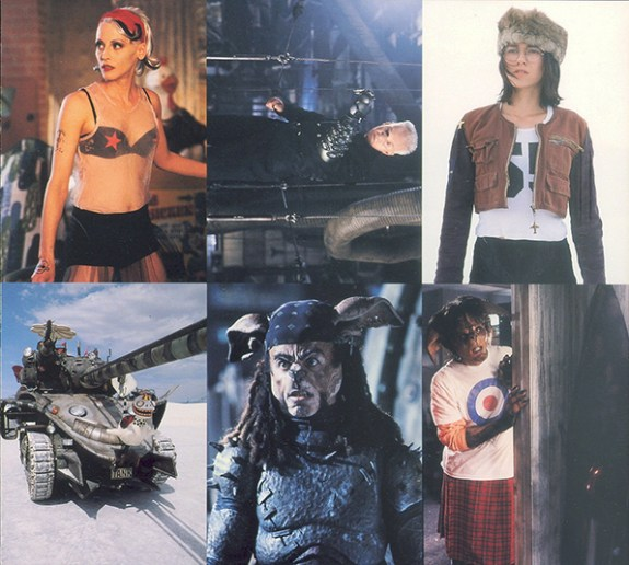 1995 Comic Images Tank Girl 6-Card Strip Front
