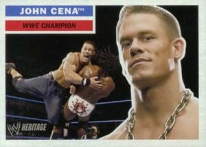 2005 Topps WWE Heritage Promo John Cena Front