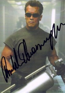 Terminator 3 Autographs A1 Arnold Schwarzeneggar as T-800