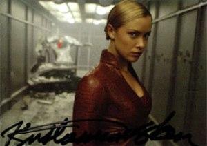 Terminator 3 Autographs A2 Kristanna Loken as T-X