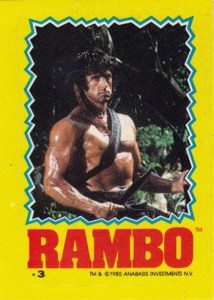 1985 Topps Rambo First Blood Part II Stickers