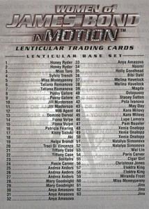 2003 James Bond Women of Bond In Motion Checklist